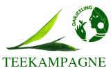 Grüner und schwarzer Darjeelingtee der Teekampagne