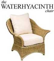 Möbel aus Wasserhyazinthen